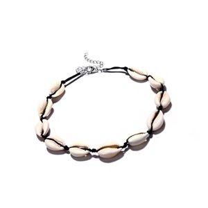 Jewelry - NWT Boho Shell Necklace on Black Cord
